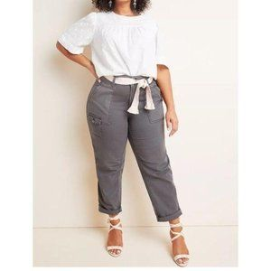 NWT Wanderer High-Rise Cargo Pants gray size 16W